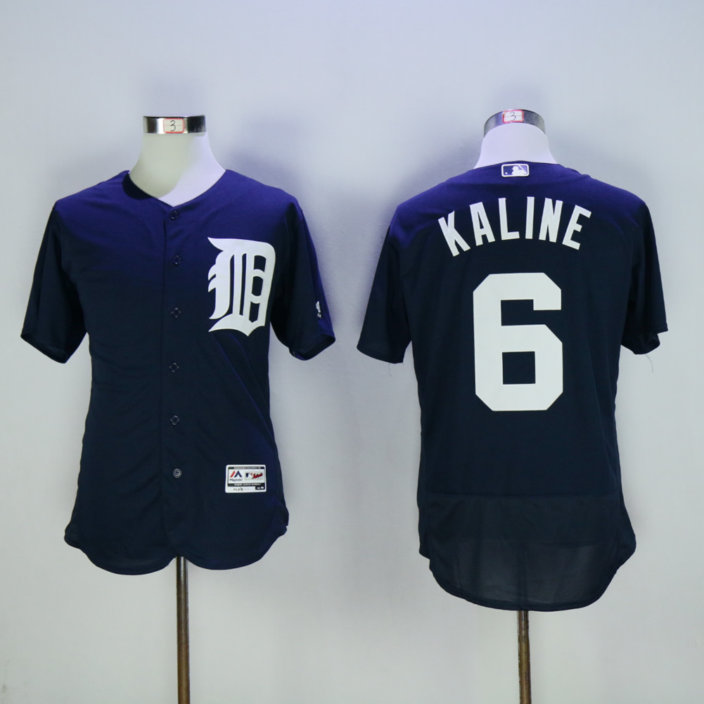 Men Detroit Tigers 6 Kaline Blue MLB Jerseys