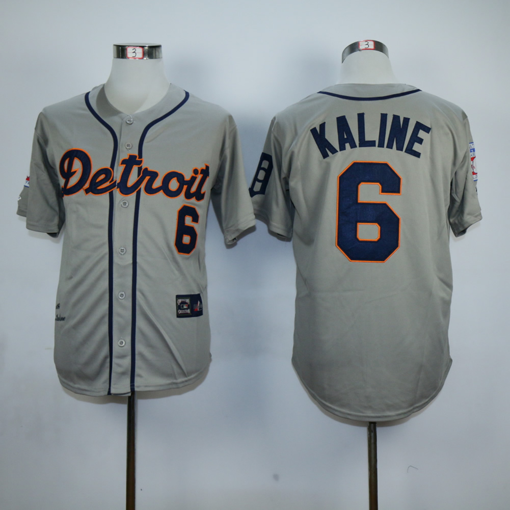 Men Detroit Tigers 6 Kaline Grey MLB Jerseys