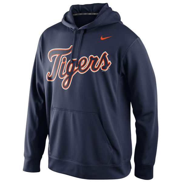 Men Detroit Tigers Nike KO Wordmark Perfomance Hoodie Navy