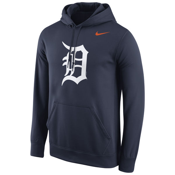 Men Detroit Tigers Nike Logo Performance Pullover Hoodie Navy