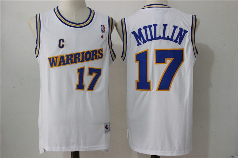 Men Golden State Warriors 17 Mullin White Throwback NBA Jerseys