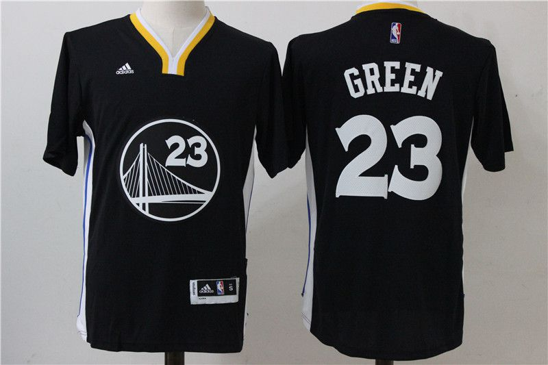 Men Golden State Warriors 23 Draymond Green Black T-shirt NBA Jerseys
