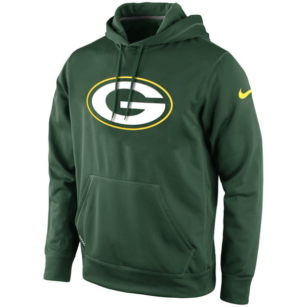 Men Green Bay Packers Nike KO Logo Essential Hoodie Green