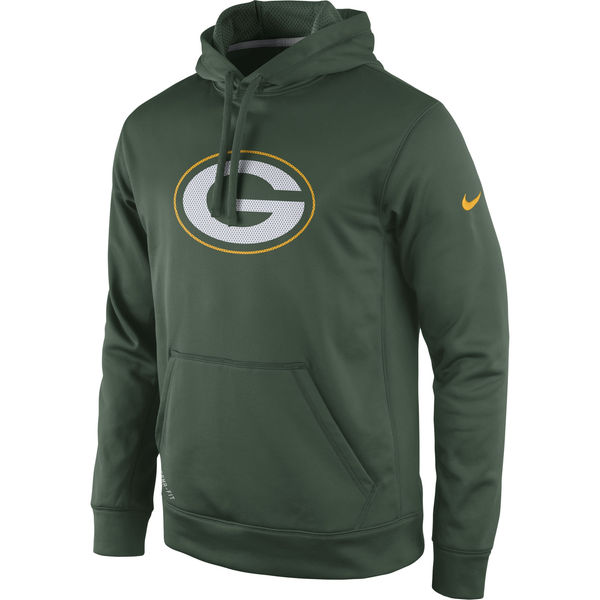 Men Green Bay Packers Nike Practice Performance Pullover Hoodie Green