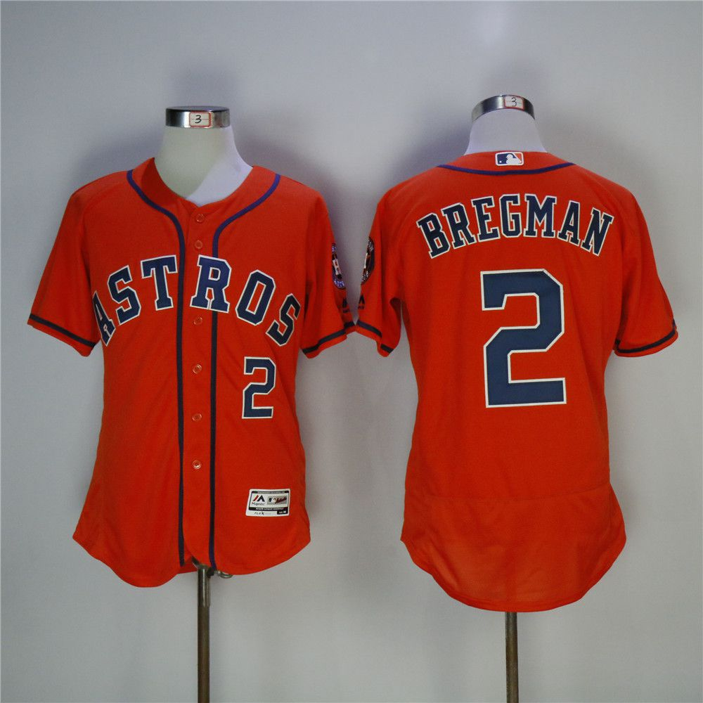 Men Houston Astros 2 Bregman Orange MLB Jerseys