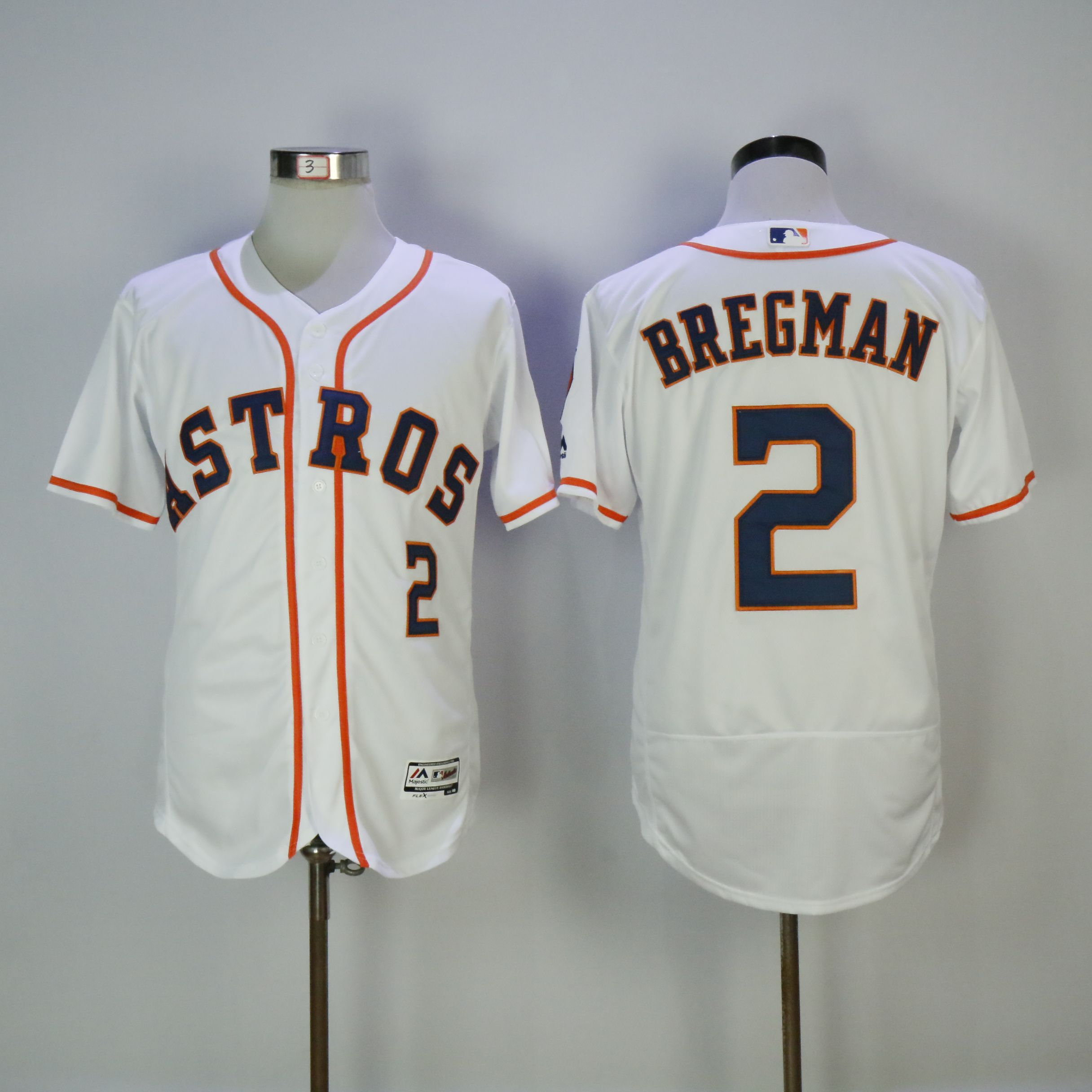 Men Houston Astros 2 Bregman White MLB Jerseys