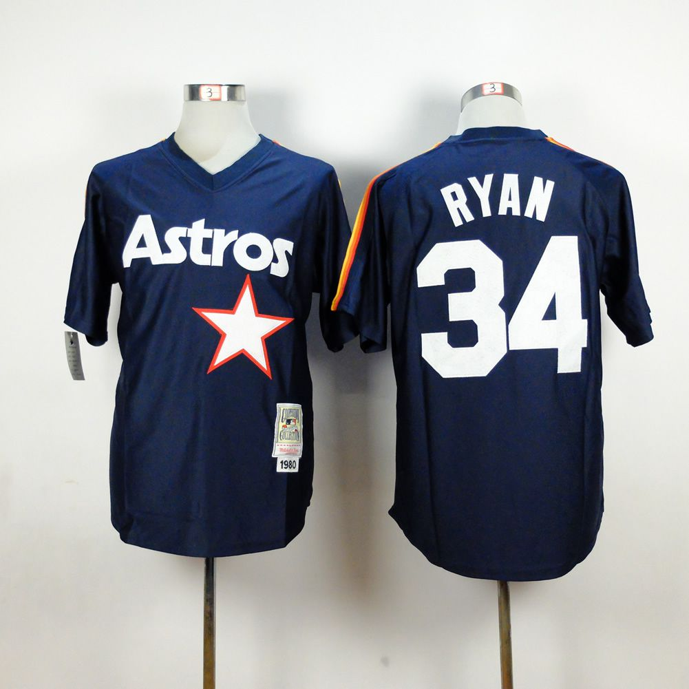 Men Houston Astros 34 Ryan Blue MLB Jerseys