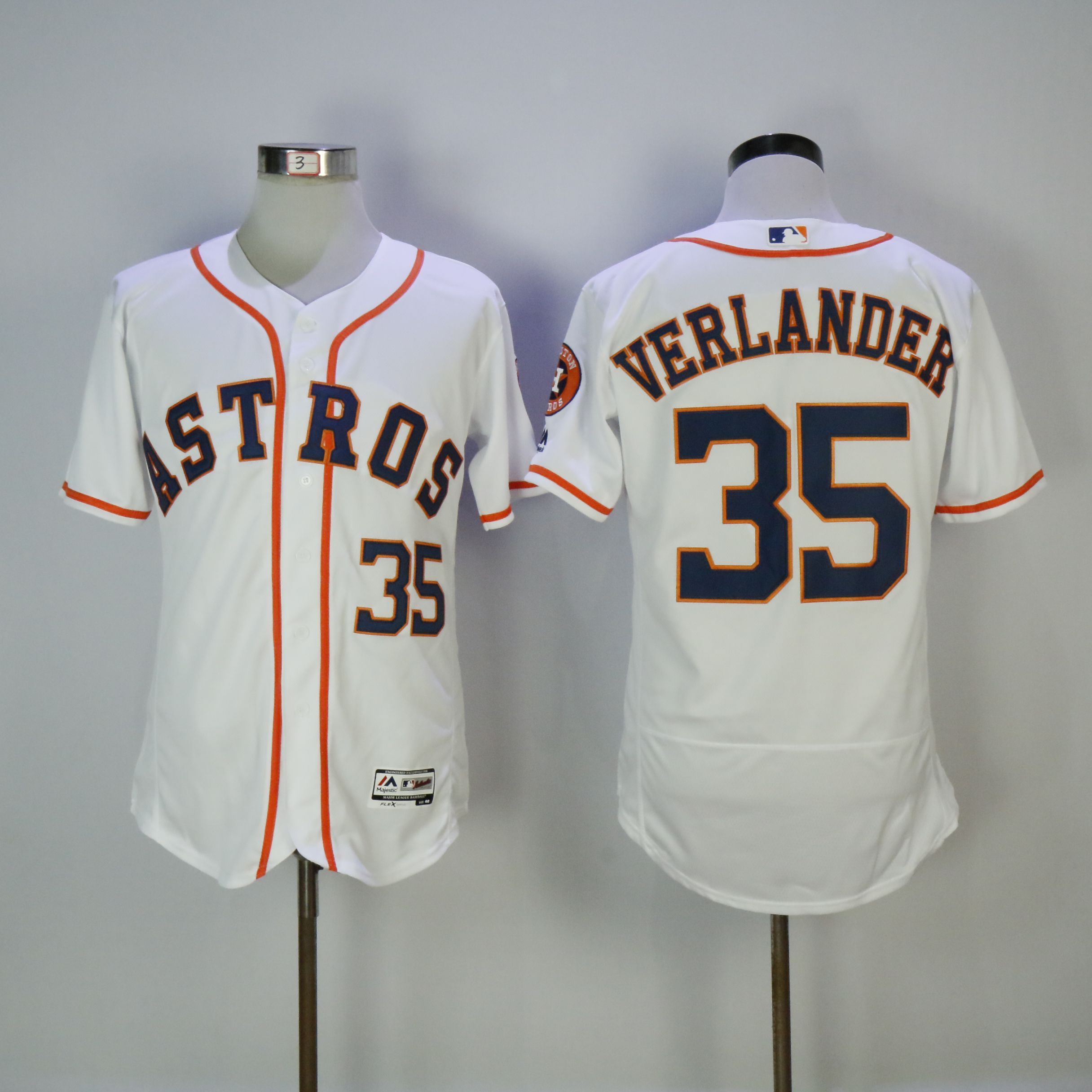 Men Houston Astros 35 Verlander White MLB Jerseys