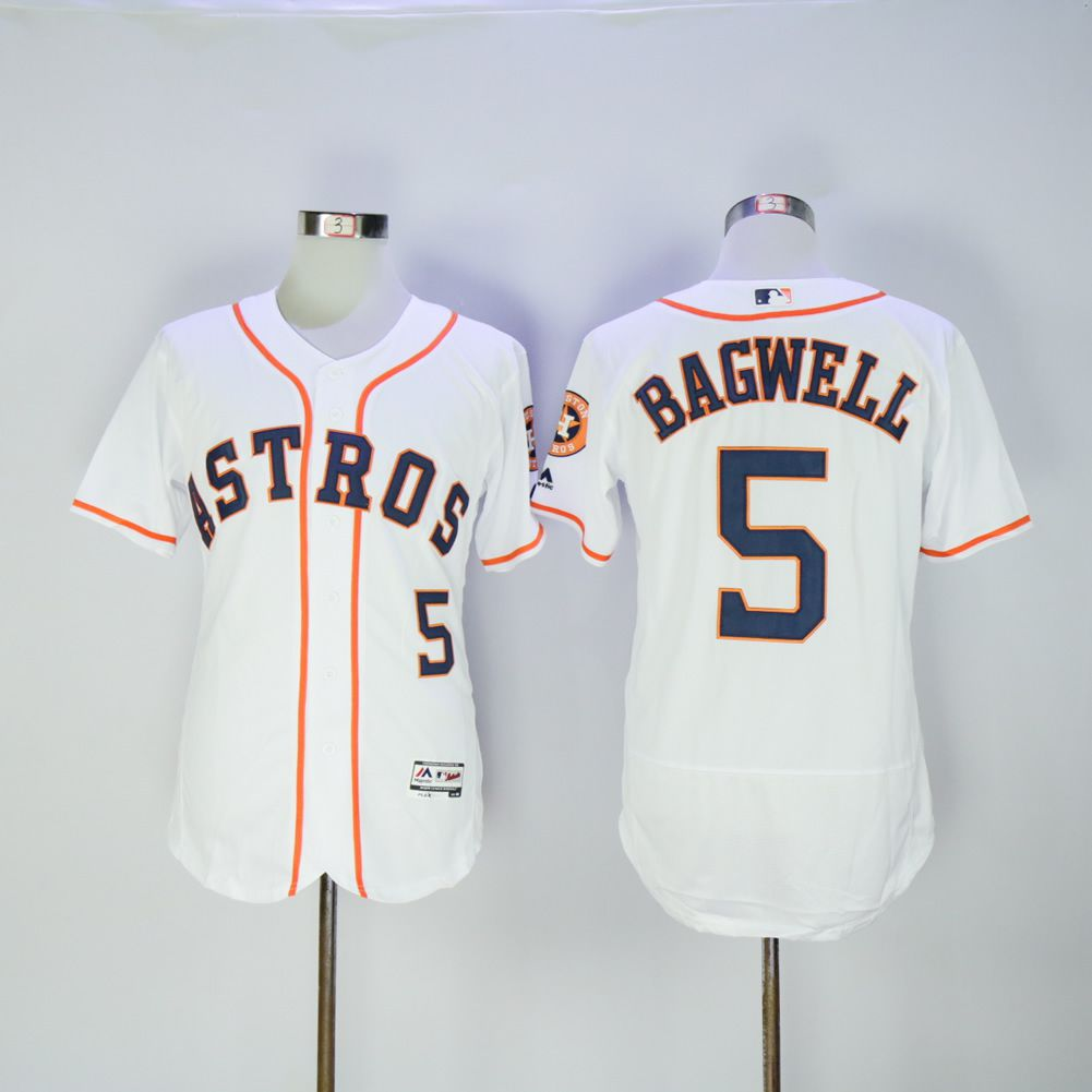 Men Houston Astros 5 Bagwell White MLB Jerseys
