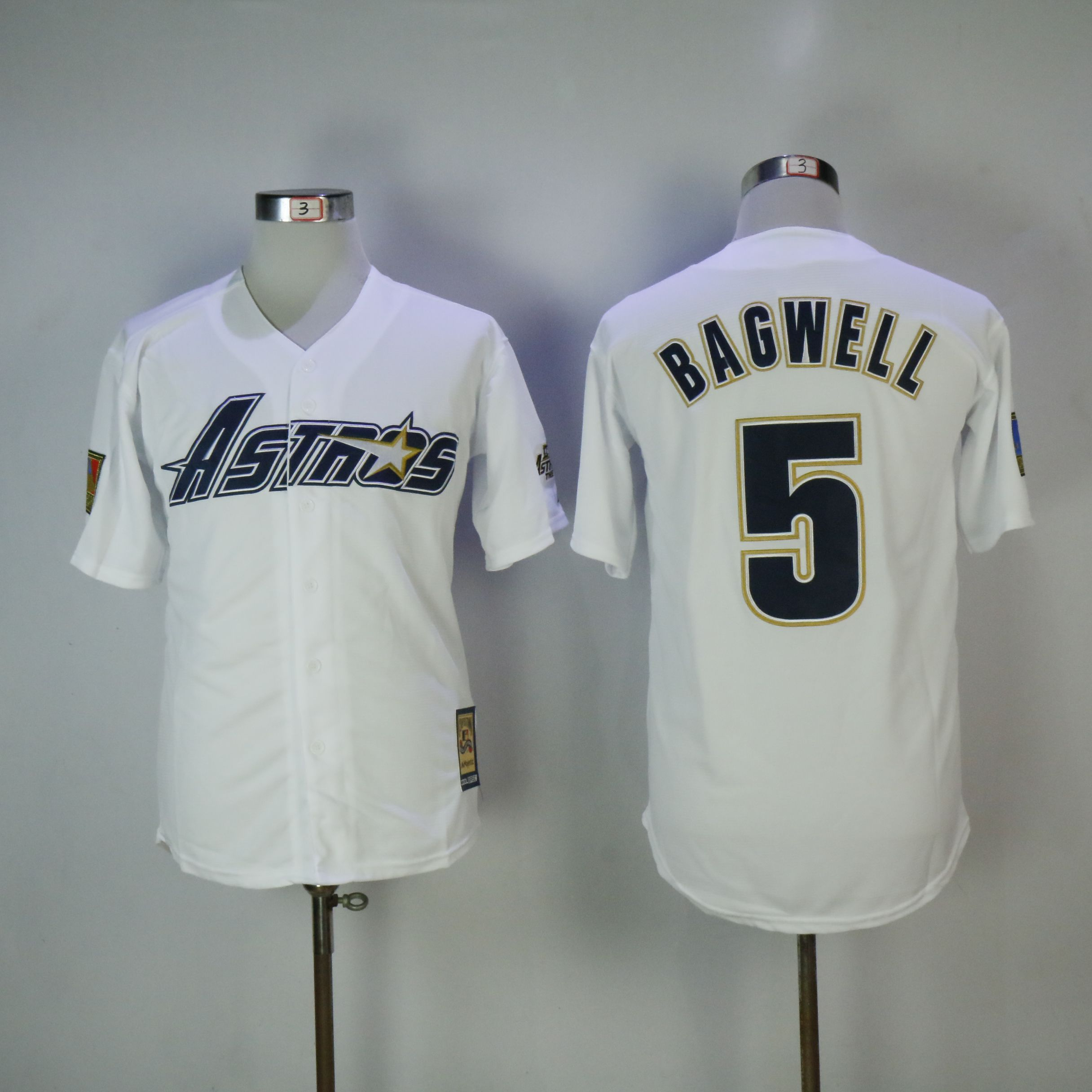 Men Houston Astros 5 Bagwell White MLB Jerseys1