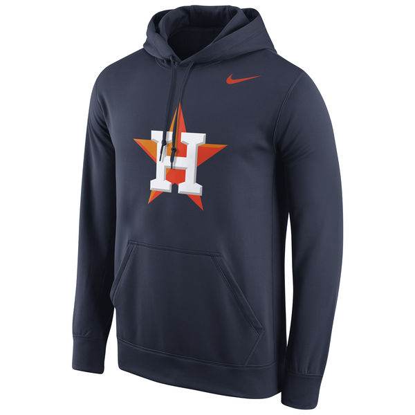 Men Houston Astros Nike Logo Performance Pullover Hoodie Navy