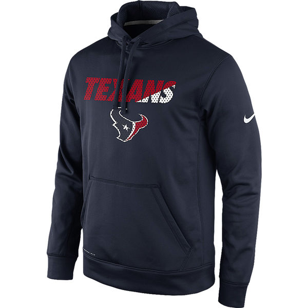 Men Houston Texans Nike Kick Off Staff Performance Pullover Hoodie Navy