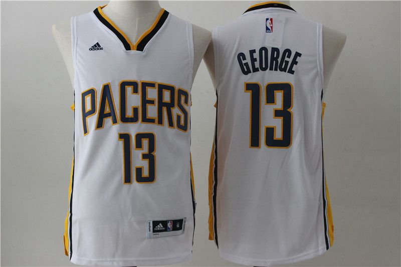 Men Indiana Pacers 13 George White Adidas NBA Jersey