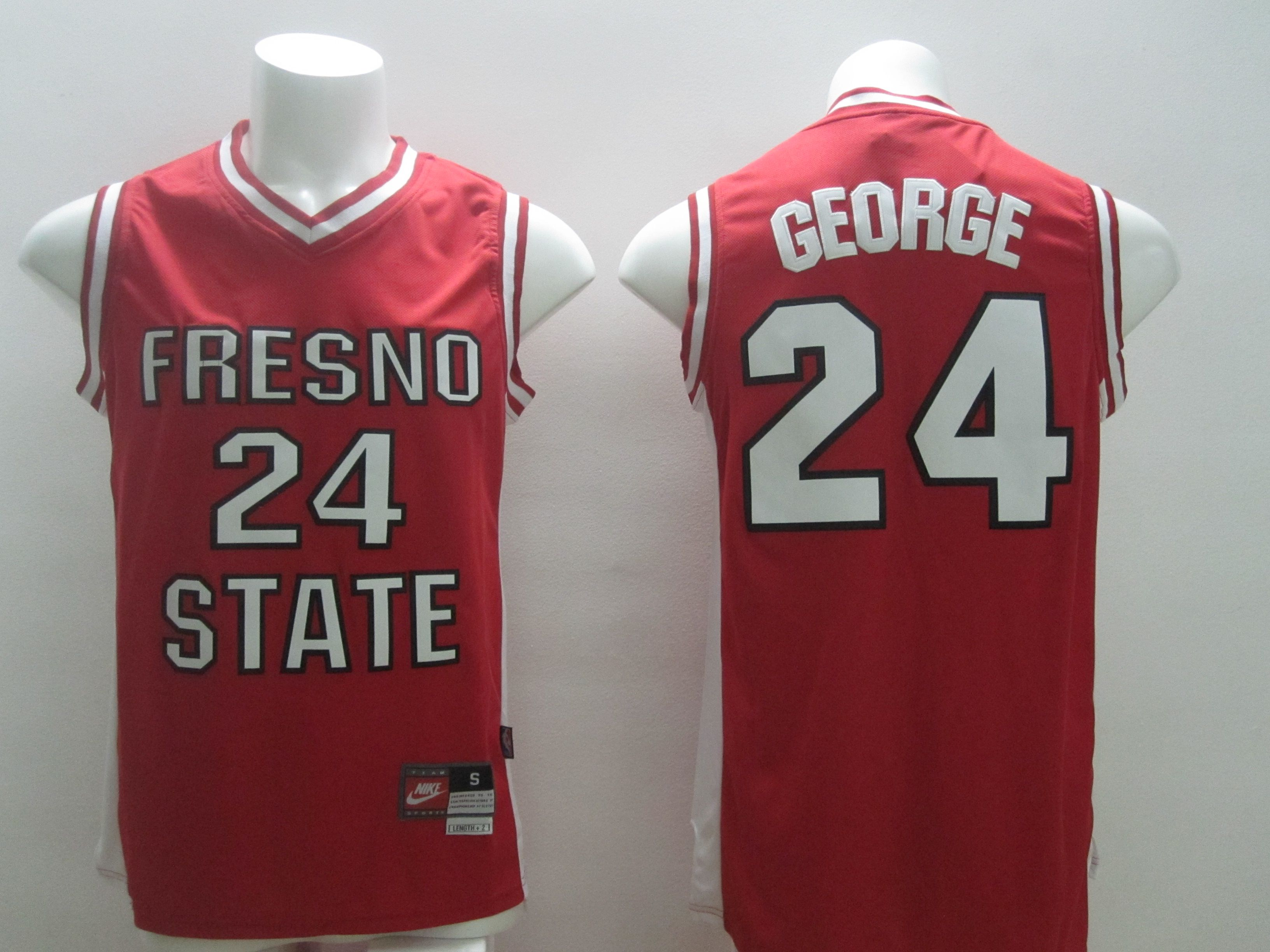 Men Indiana Pacers 24 George Red NBA Jersey