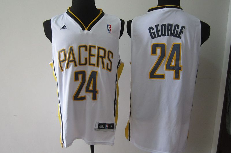 Men Indiana Pacers 24 George White Adidas NBA Jersey