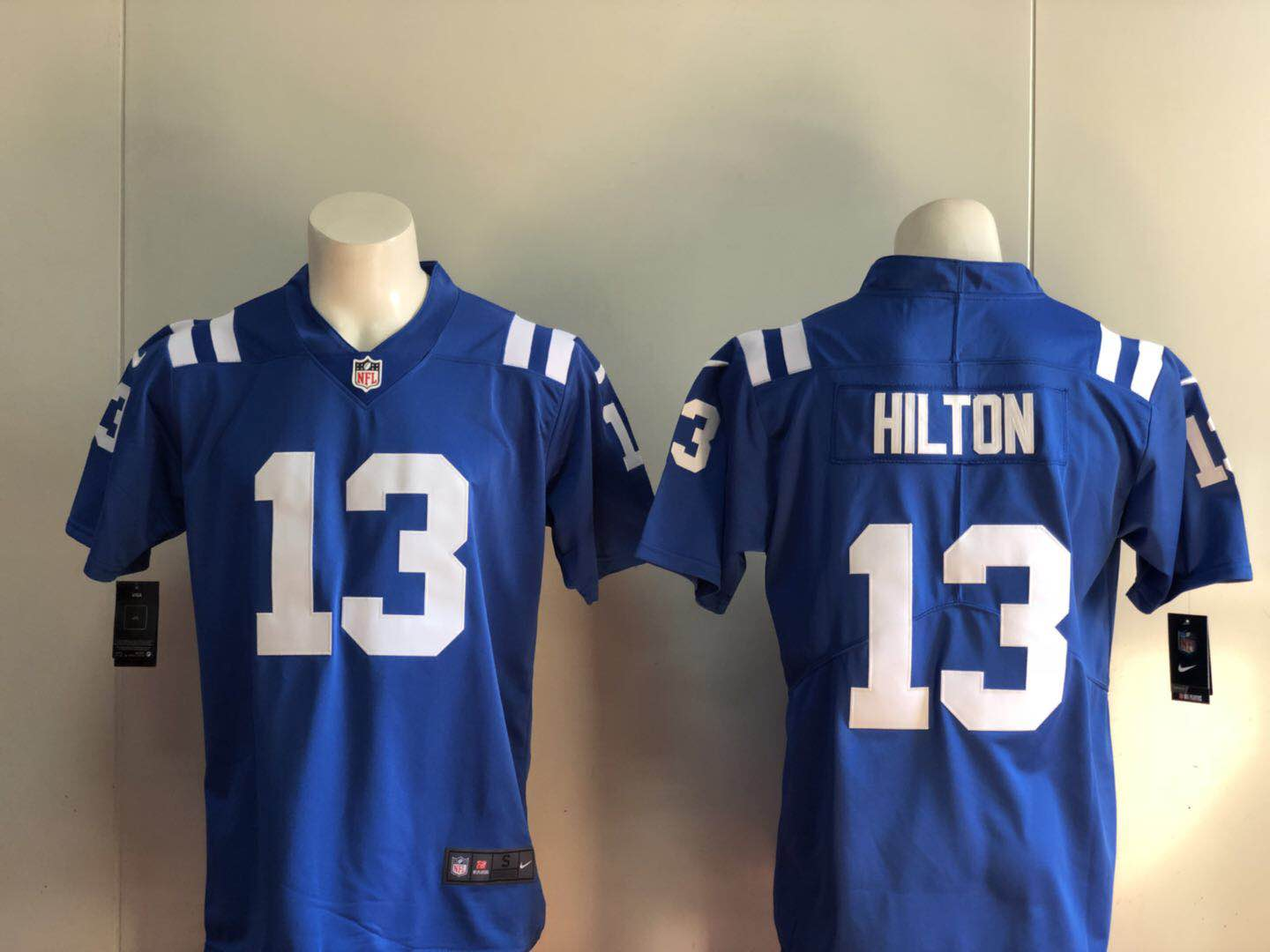 Men Indianapolis Colts 13 Hilton blue Nike Vapor Untouchable Limited Player NFL Jerseys