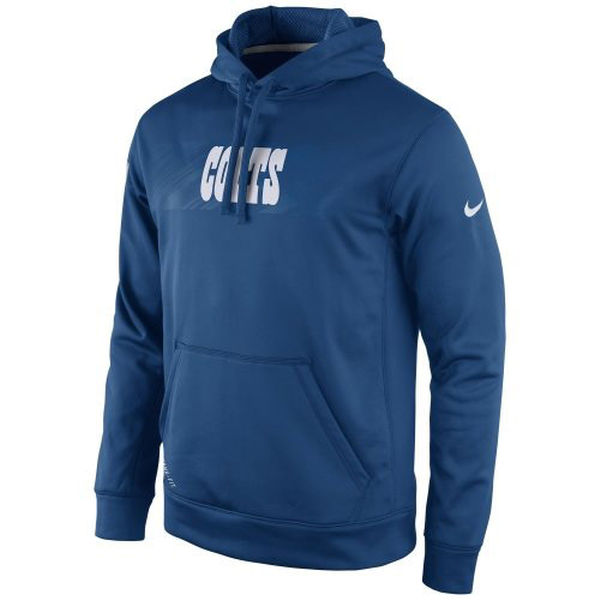 Men Indianapolis Colts Nike KO Speed Wordmark Performance Hoodie Royal Blue