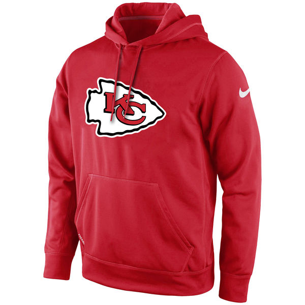 Men Kansas City Chiefs Nike KO Logo Essential Hoodie Red