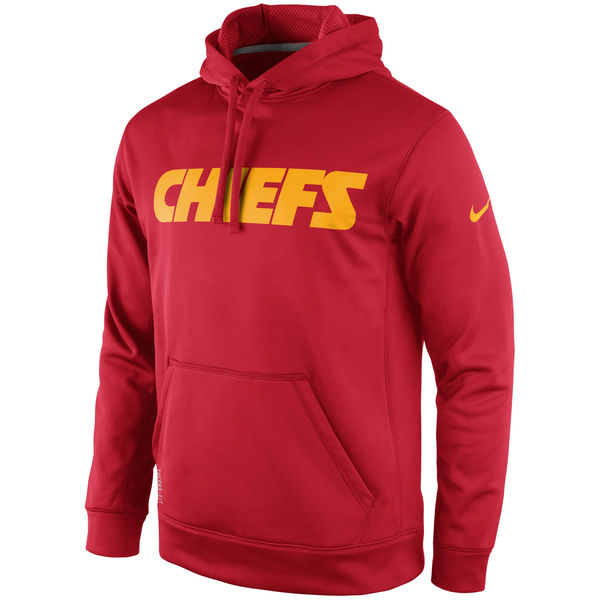 Men Kansas City Chiefs Nike KO Wordmark Performance Hoodie Red
