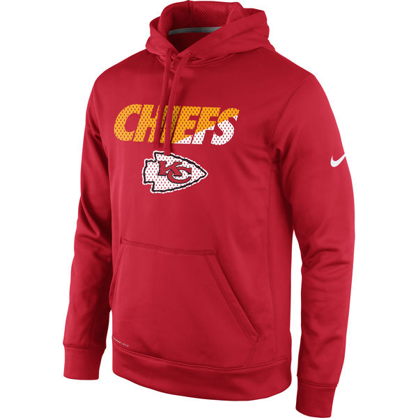 Men Kansas City Chiefs Nike Kick Off Staff Performance Pullover Hoodie Red