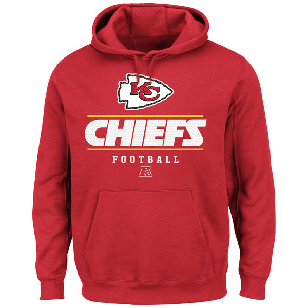 Men Kansas City Chiefs Vital Win Pullover Hoodie Red