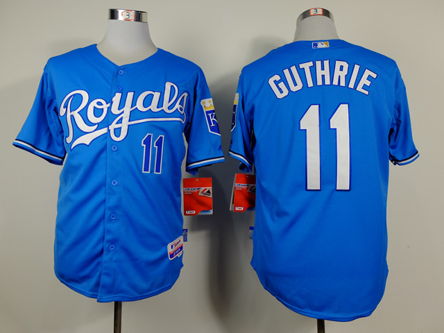 Men Kansas City Royals 11 Guthrie Light Blue MLB Jerseys