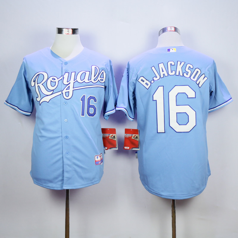 Men Kansas City Royals 16 B.Jackson Light Blue MLB Jerseys
