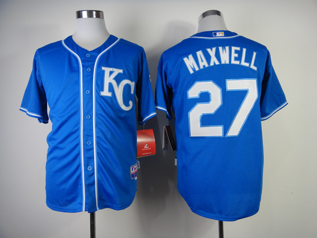 Men Kansas City Royals 27 Maxwell Blue MLB Jerseys