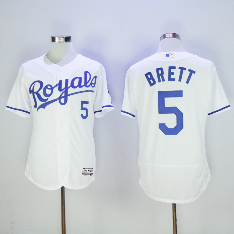 Men Kansas City Royals 5 Brett White Elite MLB Jerseys