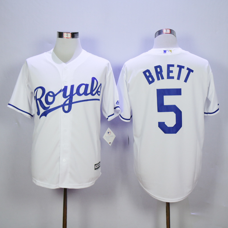 Men Kansas City Royals 5 Brett White MLB Jerseys