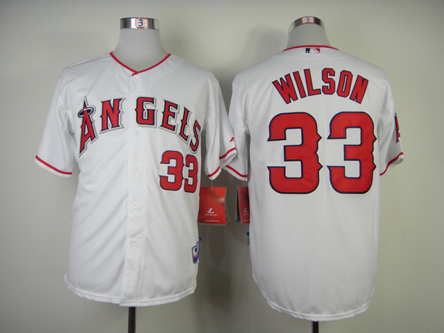 Men Los Angeles Angels 33 Wilson White MLB Jerseys