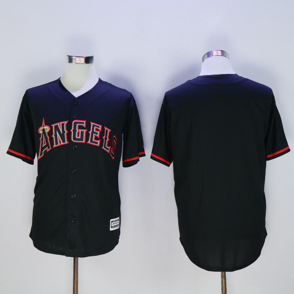 Men Los Angeles Angels Blank Black MLB Jerseys