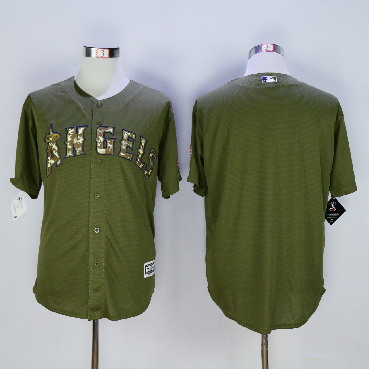 Men Los Angeles Angels Blank Green MLB Jerseys