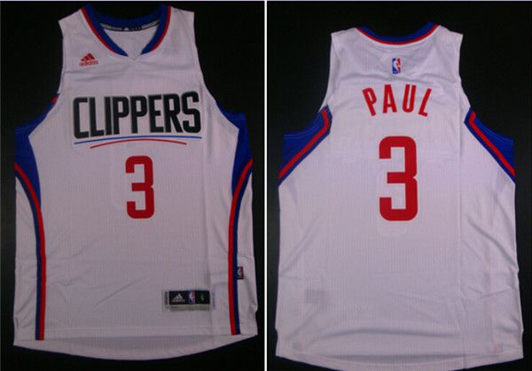 Men Los Angeles Clippers 3 Paul White Adidas NBA Jerseys