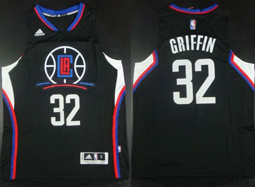 Men Los Angeles Clippers 32 Griffin Black Adidas NBA Jerseys