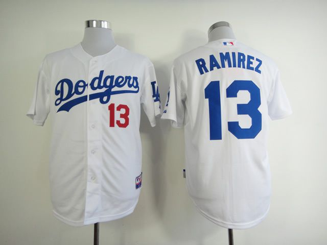 Men Los Angeles Dodgers 13 Ramirez White MLB Jerseys