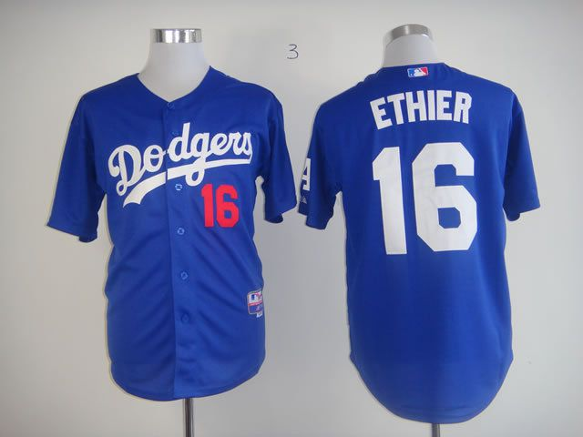 Men Los Angeles Dodgers 16 Ethier Blue MLB Jerseys