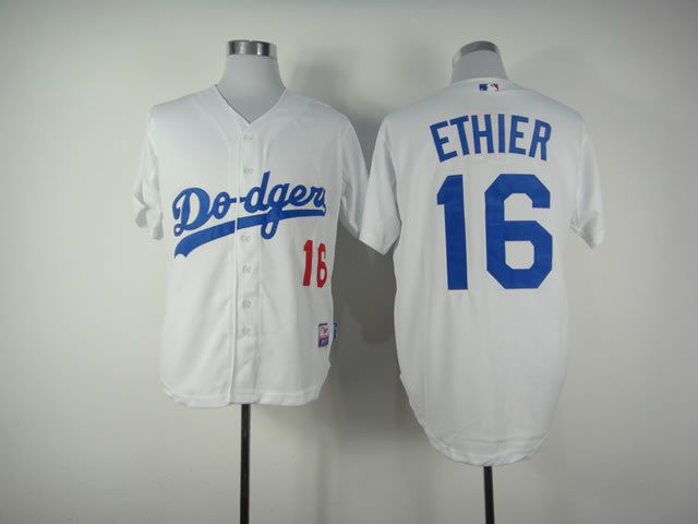 Men Los Angeles Dodgers 16 Ethier White MLB Jerseys