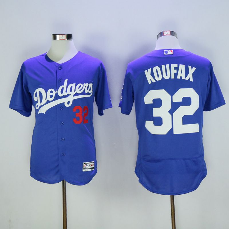 Men Los Angeles Dodgers 32 Koufax Blue MLB Jerseys
