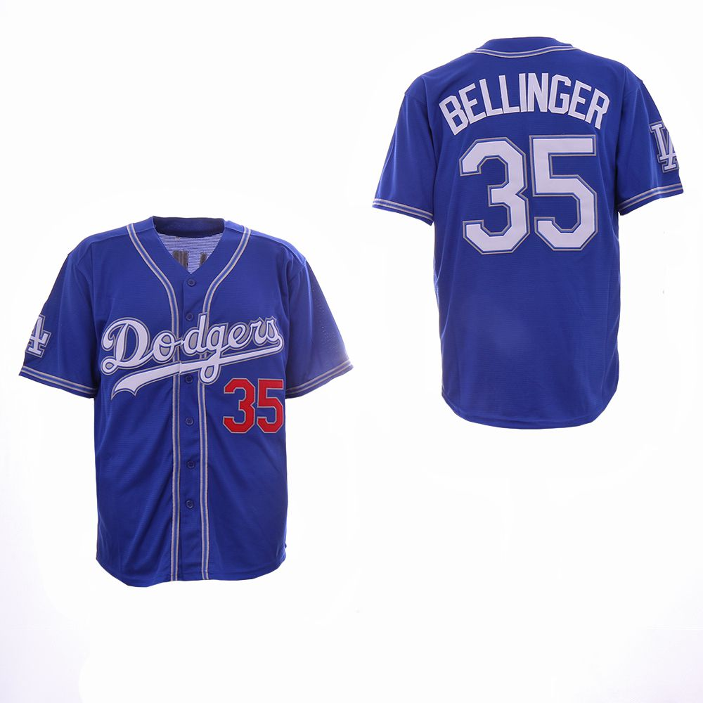Men Los Angeles Dodgers 35 Bellinger Blue Fashion Edition MLB Jerseys