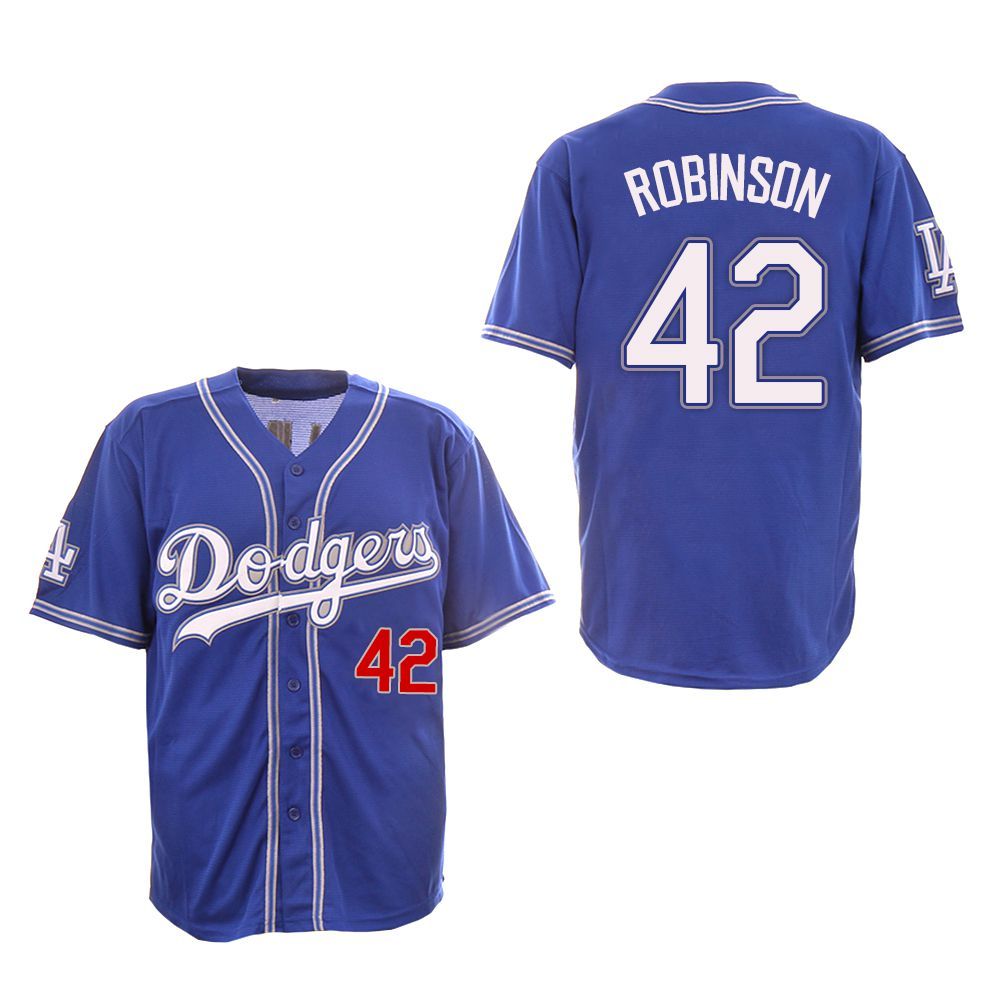 Men Los Angeles Dodgers 42 Robinson Blue Fashion Edition MLB Jerseys