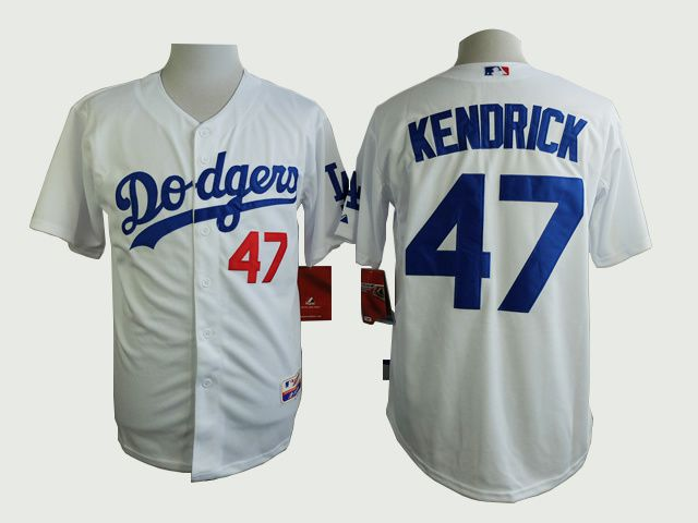 Men Los Angeles Dodgers 47 Kendrick White MLB Jerseys