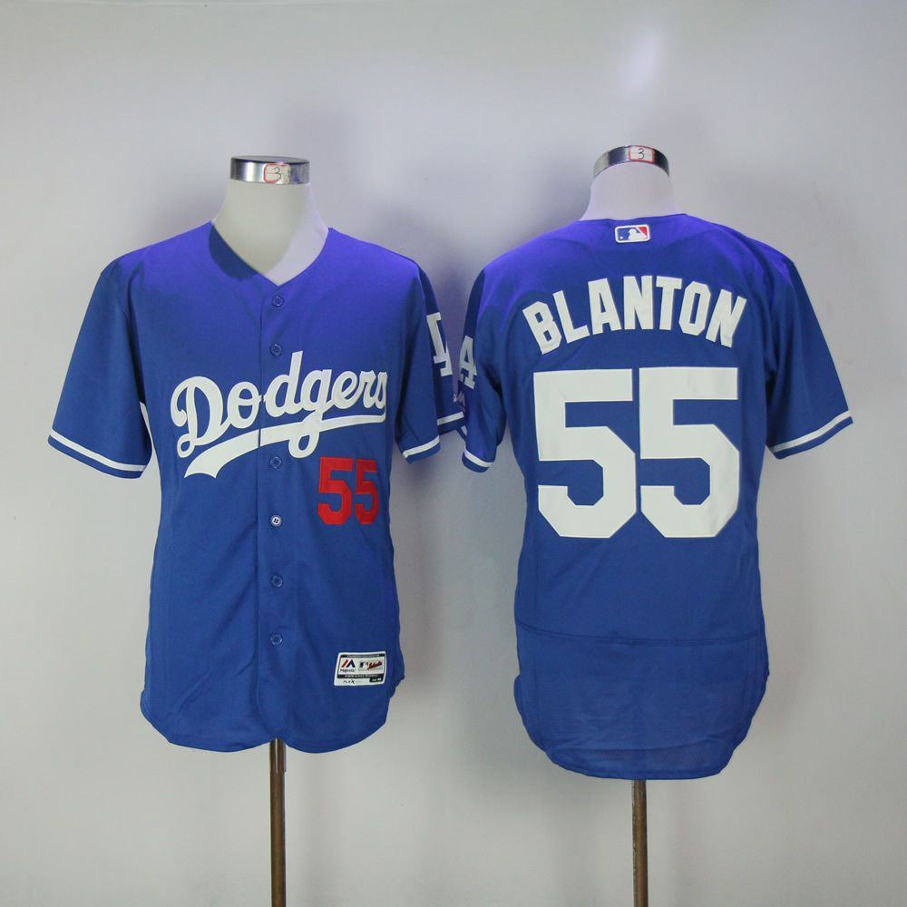 Men Los Angeles Dodgers 55 Blanton Blue Elite MLB Jerseys