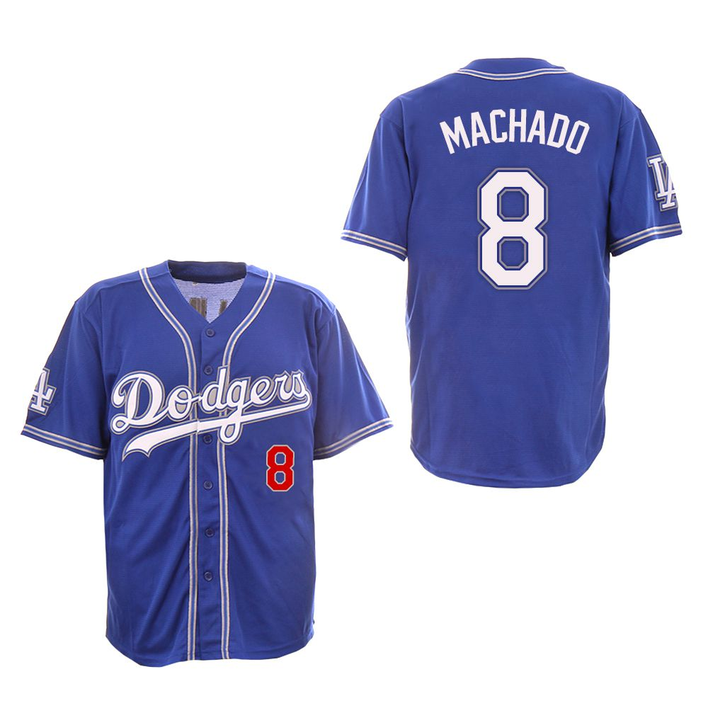 Men Los Angeles Dodgers 8 Machado Blue Fashion Edition MLB Jerseys