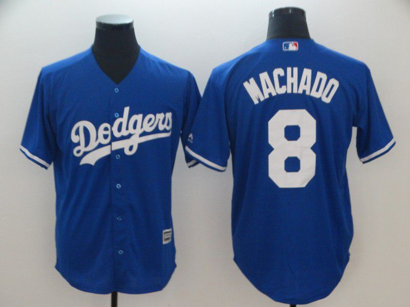 Men Los Angeles Dodgers 8 Machado Blue Game MLB Jerseys