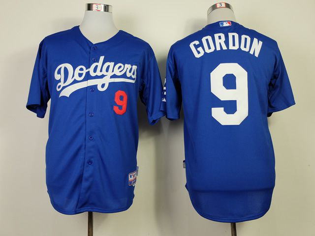 Men Los Angeles Dodgers 9 Gordon Blue MLB Jerseys