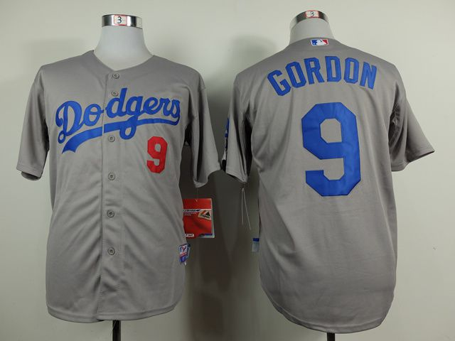 Men Los Angeles Dodgers 9 Gordon Grey MLB Jerseys