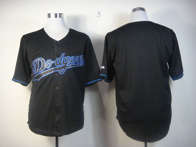 Men Los Angeles Dodgers Blank Black MLB Jerseys