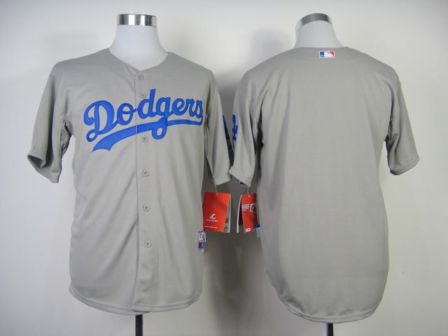 Men Los Angeles Dodgers Blank Grey MLB Jerseys