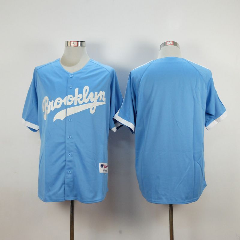 Men Los Angeles Dodgers Blank Light Blue MLB Jerseys
